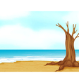 Seashore Tree Stump vector image