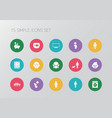 set of 15 editable family icons includes symbols vector image vector image