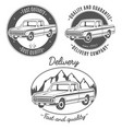 set of logos with pickup truck vector image vector image