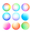 set of round soft color gradient vector image