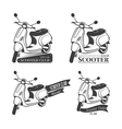 set scooter logos vector image
