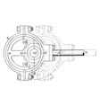 shaft in an eccentric motion from steam engine vector image vector image