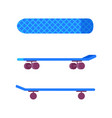skateboard of blue color vector image vector image
