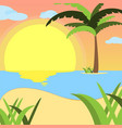summer background of beach at sunset with waves vector image vector image