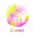 Summer Sun Umbrella Watercolor Concept vector image vector image