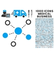 Virtual Links Icon with 1000 Medical Business vector image vector image