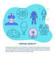 virtual reality concept poster template in line vector image vector image