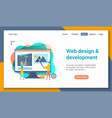 web development lp template vector image