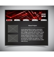 website template in black and red colors vector image