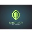 Eco green leaf logo template Green leaves loop vector image
