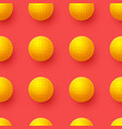 abstract seamless pattern with 3d yellow balls on vector image