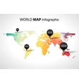 Abstract world map with tags points and vector image vector image