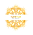 Abstraction orange background vector image vector image