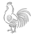 Adult antistress coloring page with rooster vector image