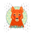 American Indians jackal vector image vector image