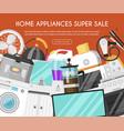 appliances online store banner vector image vector image
