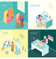 artist work isometric concept vector image vector image
