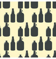 beer bottle pattern seamless background vector image