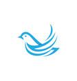 bird dove logo template vector image vector image