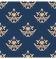Blue and beige seamless pattern vector image vector image