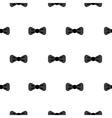 Bow tie black and white seamless pattern vector image vector image