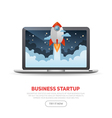 Business start up concept template vector image vector image