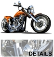Cartoon motorcycle vector | Price: 5 Credits (USD $5)