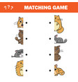 cartoon of educational game of vector image vector image