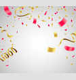 celebration background template valentine with vector image