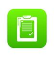 check list icon green vector image