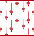 chinese lantern simple seamless pattern vector image