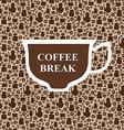 coffee breack beige vector image vector image