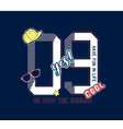 college number and patches vector image vector image