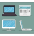 computer equipment design vector image