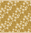 craft natural star and snowflakes seamless pattern vector image vector image