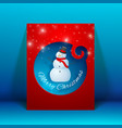 creative merry christmas greeting card vector image vector image