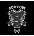 Custom engine hand drawn emblem vector image