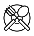 Cutlery and Plate vector image vector image