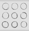 design sketch hand drawn circle graphic round vector image vector image
