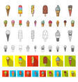 different ice cream cartoon icons in set vector image vector image