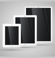 different sizes of a white tablet vector image