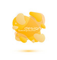 dynamic fluid design vector image