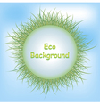 Eco Background Grass vector image