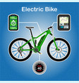 electric bike vector image vector image