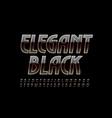 elegant black and gold font chic alphabet vector image