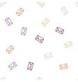 Envelope Seamless Flat Pattern vector image