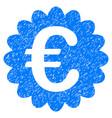 euro award seal grunge icon vector image vector image