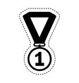first place medal isolated icon vector image vector image