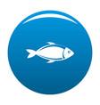 fish icon blue vector image vector image