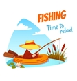 fisherman in the boat vector image
